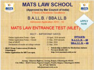 law admission mats university