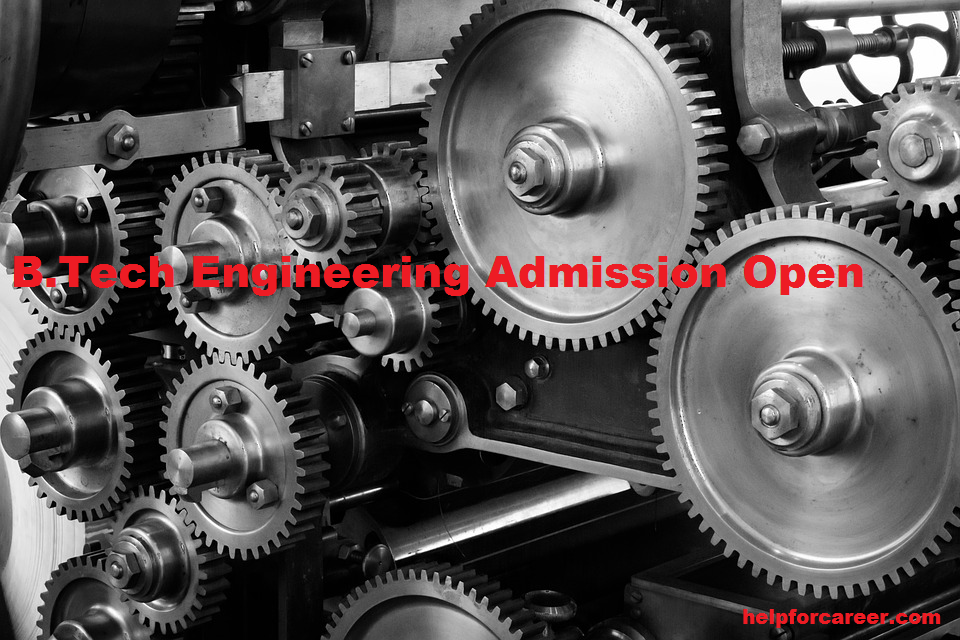 b tech admission open